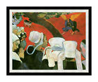 Framed Wall Art Paul Gauguin Jacob Wrestling with the Angel Repro Canvas Print