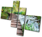 Landscapes Forest Stream MULTI CANVAS WALL ART Picture Print VA
