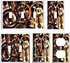 IMAGE OF STEAMPUNK GEARS   LIGHT SWITCH COVER PLATE OR OUTLET
