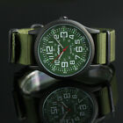 Mens Outdoor Sport Army 24H Quartz Infantry Wrist Watch Nylon Strap Date Display