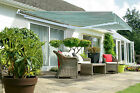 3.5M WIDE X 4M PROJECT HALF CASSETTE MANUAL PATIO AWNING SUN CANOPY GARDEN SHADE