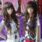 New Style Fashion Long Curly Cosplay Women Girl Hair Full Wig Free Hot Sale