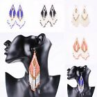 Fashion Bohemian Native Beaded Beads Dangle Large Long Earrings Jewellery BOHO