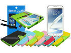 Leather Wallet Case with TPU+Screen Protector for Samsung Galaxy Note II 2