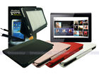 Leather Case+Screen Protector+Stylus for Sony Tablet S 9.4""