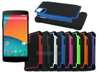 Dual Layer Hybrid Armor Rugged Hard Case for LG Nexus 5