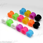 2x Body Piercing Flare Flexible Silicone Ear Tunnels Plugs Earlets Gauges 3-12mm