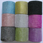 "1 Yards 4.6"" Diamond Mesh Wrap Roll Crystal Rhinestone-LOOK Wedding Ribbon Trim"
