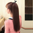 Lady Girl Party Club Horsetail Long straight Hair Extensions Ponytail Hairpiece