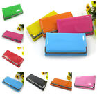 Women Candy Color Bright PU Leather Clutch Wallet Coin Purse Handbag Card Holder