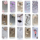 Fashion Shiny Handmade Transparent 3D Crystal Skin Cover Case for iPhone 5/5s
