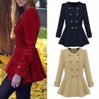 NEW HOT WOMENS SLIM FIT WARM DOUBLE-BREASTED COAT JACKET FASHION OUTERWEAR S-XL