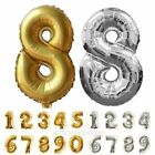 "Hot 16"" Silver,Gold Craft Foil Balloon Number Full Birthday Wedding Party Gift"
