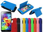 Hybrid Hard Case with ID Credit Card Slot Stand for Samsung Galaxy S5 S V