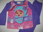 New Toddler Girls Team Umizoomi Nickelodean 2 piece flannel Pajamas 3t- 5t