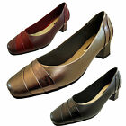 Womens Ladies Comfort Plus Burgundy wide Fitting Work Court Shoes Size  UK 5 - 8