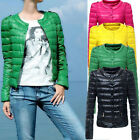2014 New  Round Neck Short single breasted Slim Down cotton jacket coat casual
