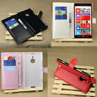 4Color Fashion PU Leather Case Stand Wallet Cover Skin For Nokia Lumia 1520 TJ8S