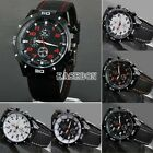 EA Mens Quartz Stainless Steel Wrist Watch Sport Racing Watches Analog Fashion