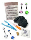 1.6mm Sterile Cannula Needle Belly/Navel Piercing Kit with CZ Gem Jewellery