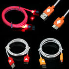 Newest LED Light USB Sync Charger Cable Cord For Samsung Galaxy S5 i9600 G900