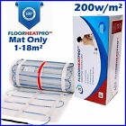 Electric Underfloor Undertile Heating Mat 200w ALL SIZES 1-18m² - MAT ONLY