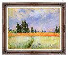 Framed Picture Fine Art Print The Wheat Field Claude Monet Painting Reproduction