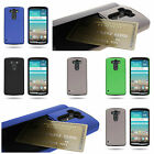 For LG G3 (2014) - Durable Credit Card Slot Holder Kickstand Phone Cover Case