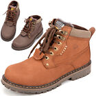New Men Autumn/Winter Cow Leather/Nubuck Tooling Boots Casual Lace up Boots X168