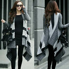 Multicolor Striped Long Sleeve Open Front Womens Cardigan Sweater Knitwear Tops