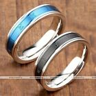 Stainless Steel Plated Roman Numerals Finger Ring Couple Lover Gothic US6-10