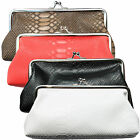 Ladies Small Clutch Bag Snake Print Texture Evening Purse Black Red Brown White