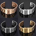 18-22mm Stainless Steel Watch Band Strap Double Lock Flip Bracelet Straight End