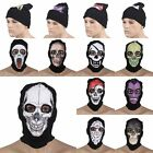 Mens Womens Balaclava Ghost Full Face Skull Mask Halloween Knitted Beanie Hat