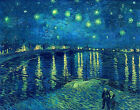 Starry Night over the Rhone by Vincent van Gogh Canvas Art Print Painting Repro