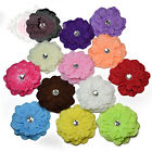 Large Multi-layered Camellia Flower Hair Clips Grips. Bridal Wedding Braidsmaids