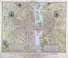 "Poster / Leinwandbild ""Map of Paris c.1540, known as the 'Plan d..."" - C. Naudet"
