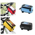 Bicycle Smart Mobile Phone Holder Bag Cycle Frame Pouch Bike Front Tube Case New
