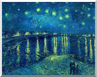 Starry Night over the Rhone River Vincent van Gogh Stretched Repro Art Print