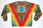 Adult L/S TIE DYE Rasta V Earth Long Sleeve T Shirt reggae sm-xl Marley Jamaica