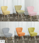 My-Furniture Upholstered Retro Occasional Chair Orange/Lime/Check/Kelp - Delilah