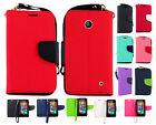 For Nokia Lumia 635 Premium Leather 2 Tone Wallet Case Pouch Flip Phone Cover