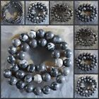 H0854-1477 Wholesale Black Fossil Ball Loose Beads 15""