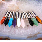 Free Shipping Natural Crystal Opal Amethyst Agate Beads Zinc Alloy Pendant 1Pcs