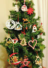 LARGE SELECTION WOOD METAL HEART STAR TREE SNOWFLAKE CHRISTMAS TREE DECORATIONS