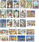 Snowscene Traditional German A4 Advent calendar - glitter & translucent windows