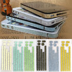 Bumper Case Side Body Button Glitter Bling Color Sticker Skin For iPhone 4 4G 4S