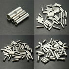 50Pcs Silver Uninsulated Butt Crimp Connectors Terminal Wire 10-12 14-16 18-22