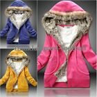 Womens Faux Fur Trendy Thicken Hoodie Zipper Coat Outerwear Winter Jacket Tops
