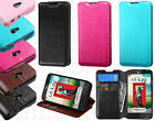 For LG Realm LS620 Premium Wallet Case Pouch Flap STAND Cover + Screen Protector